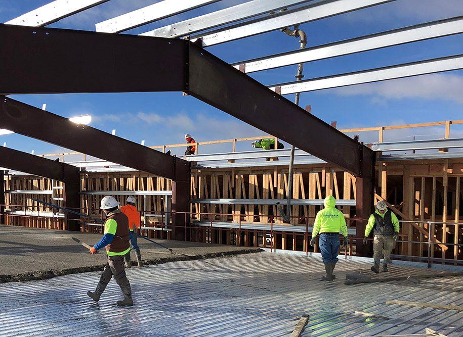 Bend Research Center concrete pour