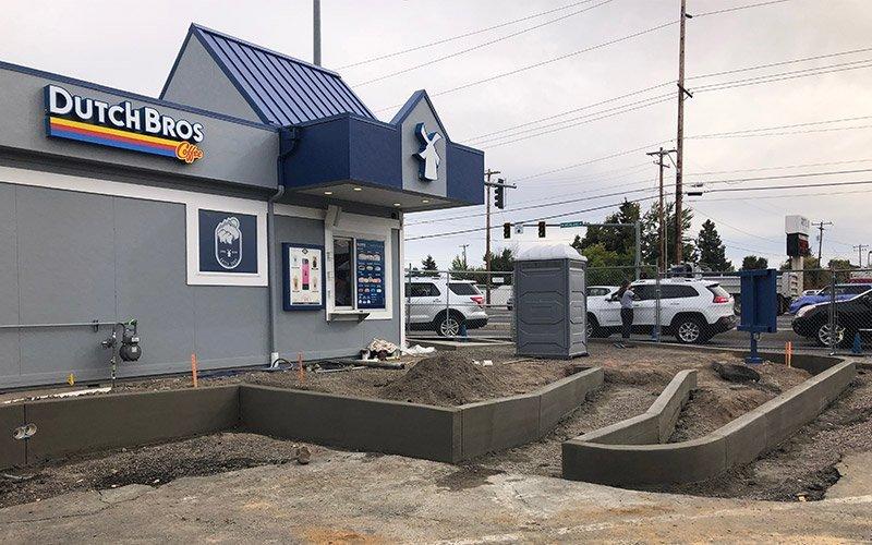 Redmond Dutch Bros concrete pour