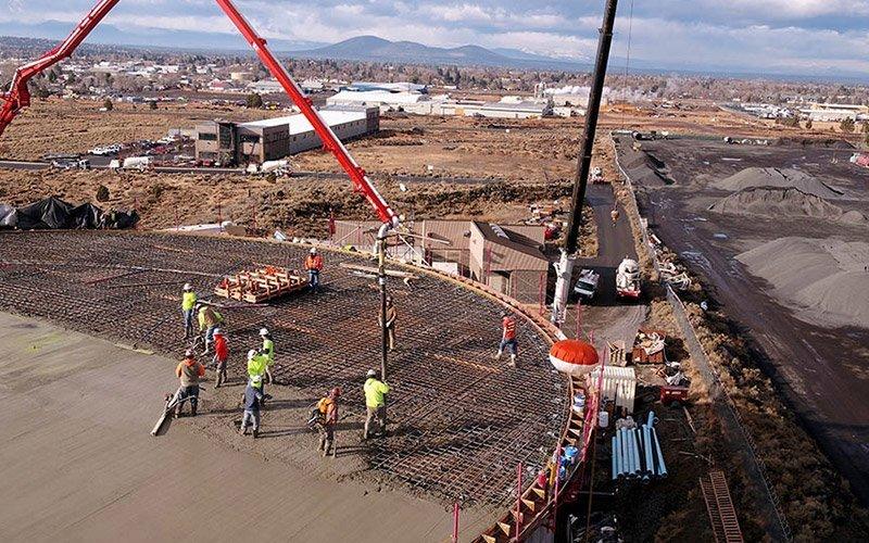 Redmond Water Tank concrete pour