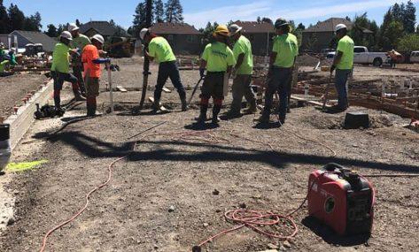 Holiday Inn Express concrete pour