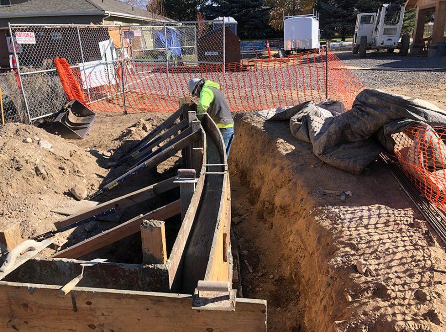 Liberty Lodge Assisted Living concrete pour