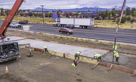 Lucky Horseshoe Storage concrete pour