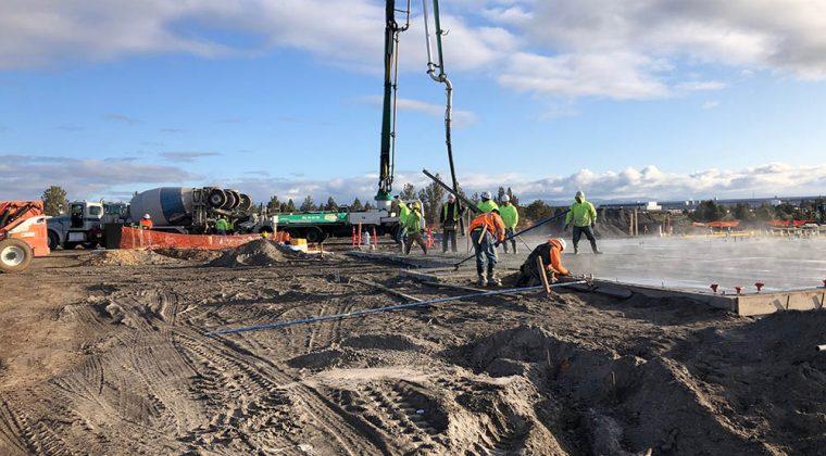 Prineville Airport concrete pour