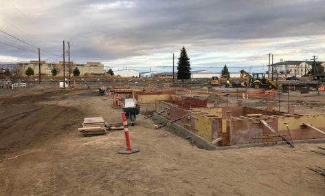 Red Canyon Apartments concrete pour