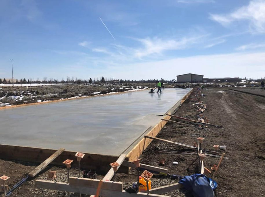 Safe in Storage concrete pour and smoothing