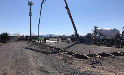 Safe in Storage concrete pour