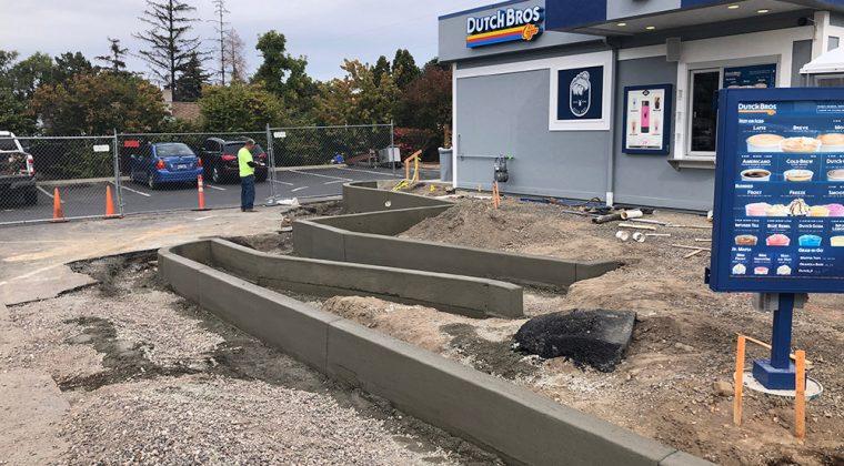Redmond Dutch Bros. concrete pour